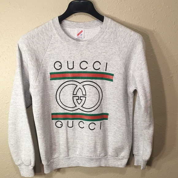 f8a046510e2 Jerzees Other - Vintage Rare Bootleg Gucci Crewneck Large 80s 90s